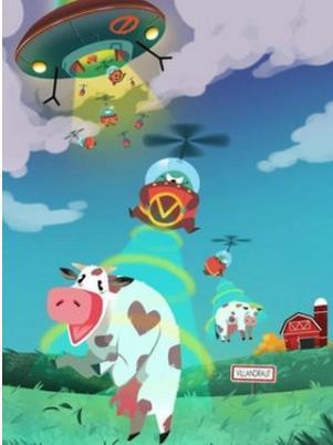 外星人VS牛犊图2