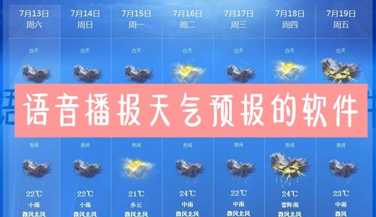 语音播报天气预报的软件
