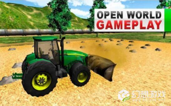 绿色农场拖拉机模拟器图2