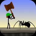 火柴人与蜘蛛游戏
