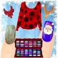 装扮和美甲游戏圣诞风格
