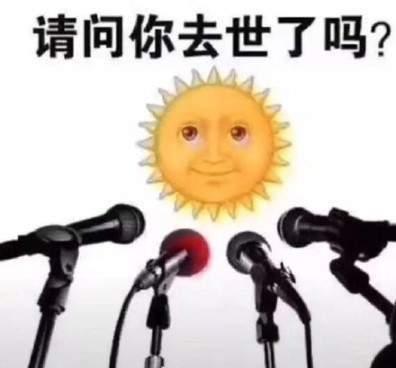 太阳请问你去世了吗表情包