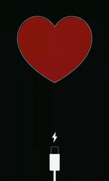 抖音一个爱心充电壁纸图3