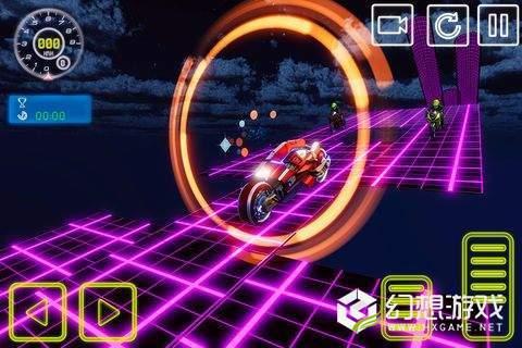 霓虹灯自由泳自行车特技模拟图3