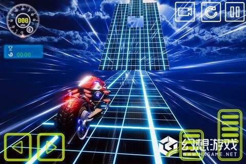 霓虹灯自由泳自行车特技模拟图4