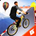 坡道自行车特技