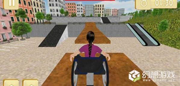 轮椅停车模拟图3