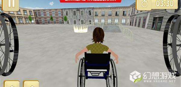 轮椅停车模拟图1