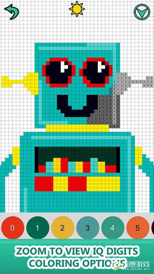 机器人涂色书图1