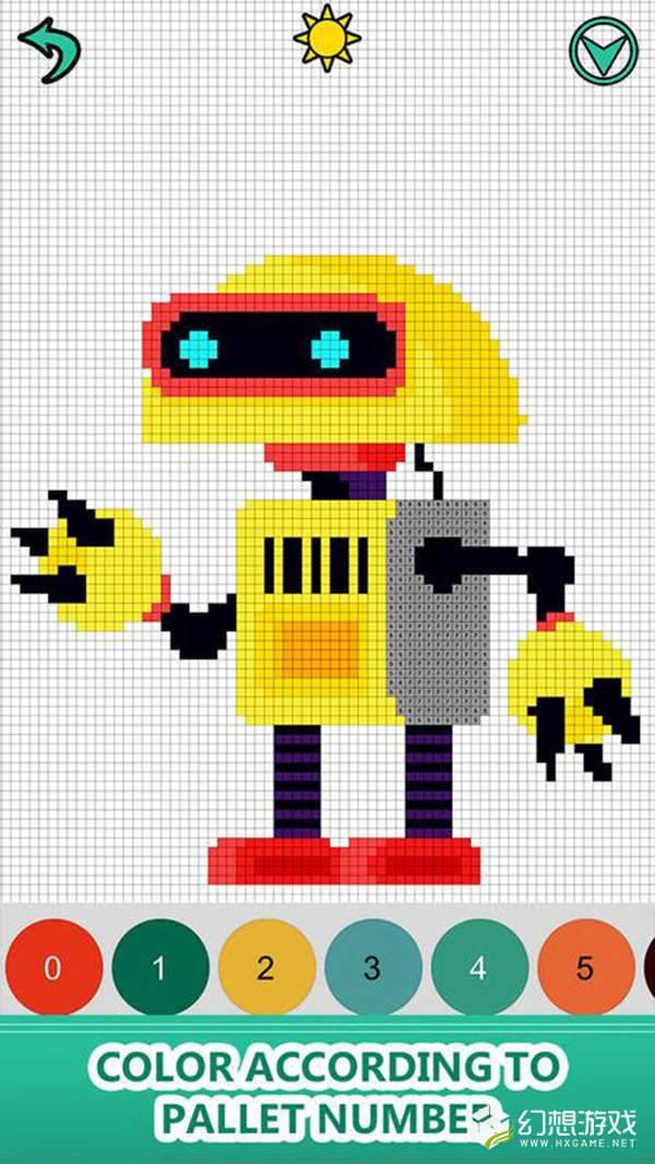 机器人涂色书图3