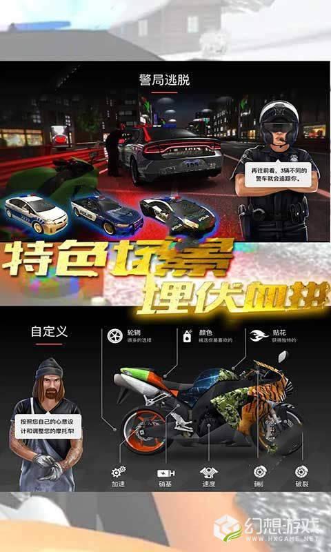 赛车摩托车狂飙图1