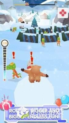 踩着雪球的熊熊图4