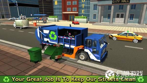 垃圾车倾倒司机取货和回收图2