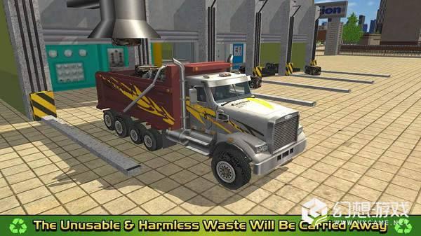 垃圾车倾倒司机取货和回收图3