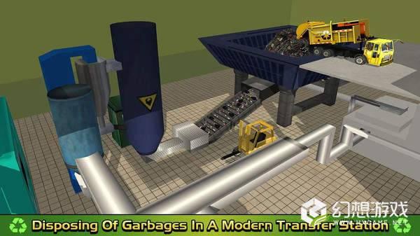 垃圾车倾倒司机取货和回收图1