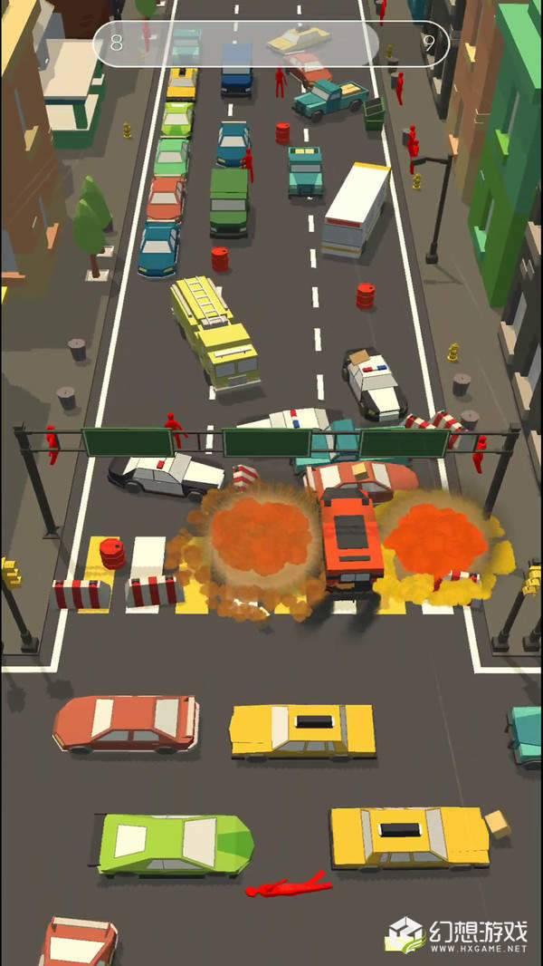 障碍道路碰撞3D图1