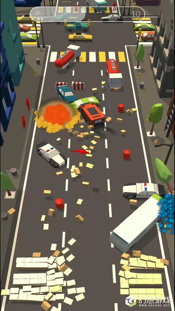 障碍道路碰撞3D图2