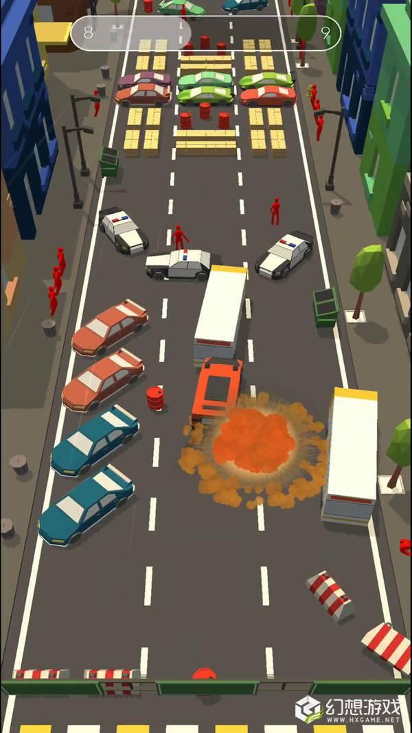 障碍道路碰撞3D图4