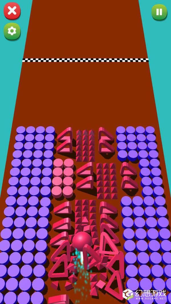 滚滚彩色球3D图1