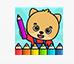 儿童水果填色画画