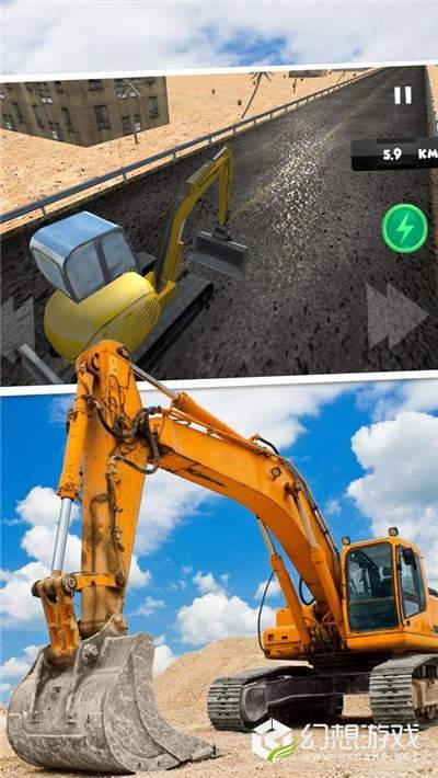模拟驾驶挖掘机3D图1
