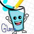 灿烂的玻璃杯