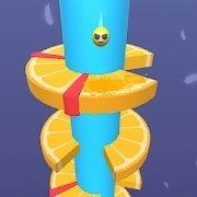 橙色螺旋跳跃