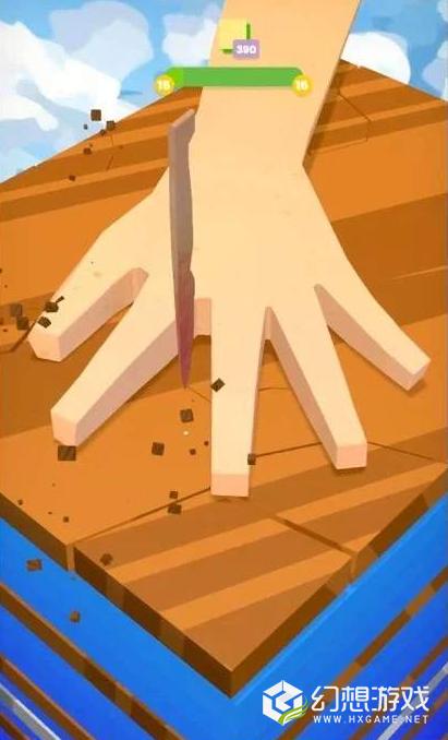 刀戳手指缝图2