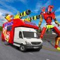冰激凌机器人货车变换