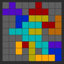多彩拼图块