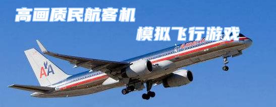 高画质民航客机模拟飞行游戏