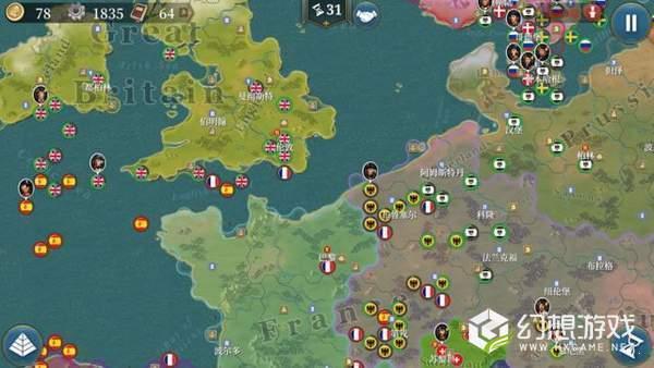 欧陆战争6反转帝国mod破解版图1
